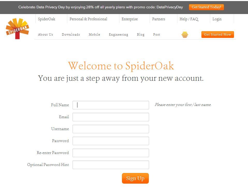 Join Us Today! - SpiderOak.com